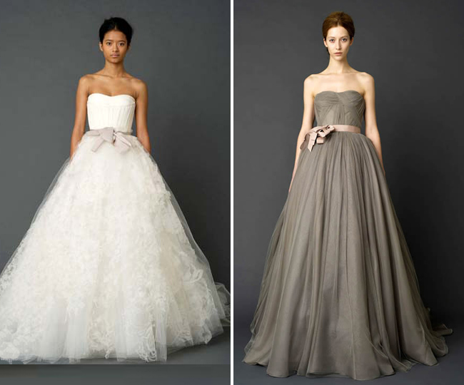 Vera wang des id es pour un joli mariage for Meilleures robes de mariage vera wang