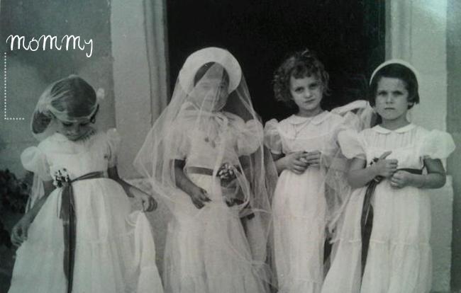 Vintage demoiselles d'honneur