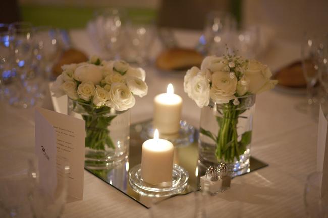 Real wedding season 8 episode 1 du classique du chic du cool des id es pour un joli - Centre de table avec miroir ...